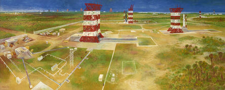 Bernard Perlin, 'The Countdown at Cape Canaveral', 1958