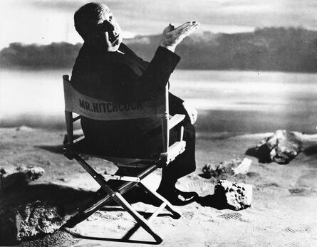 """Philippe Halsman, ' Alfred HITCHCOCK, during the filming of """"The Birds""""', 1962"""