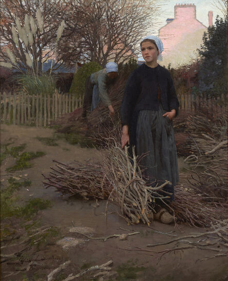 Edward Emerson Simmons, 'End of the Yard', 1883