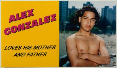 Ken Lum, 'Alex Gonzalez Loves his Mother and Father', 1989