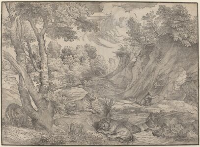 Niccolò Boldrini after Titian, 'Saint Jerome in the Wilderness', ca. 1530