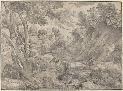 Niccolò Boldrini after Titian, 'Saint Jerome in the Wilderness', ca. 1530