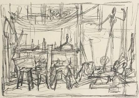 Alberto Giacometti, 'The Pointing Man, in the Studio | L'homme qui pointe dans l'atelier', 1951