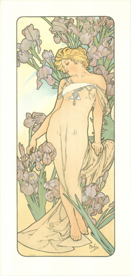 Alphonse Mucha, 'The Flowers', 1972