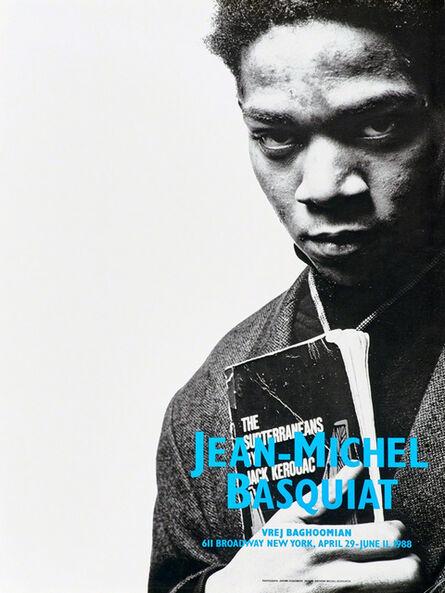 Jean-Michel Basquiat, 'Basquiat Vrej Baghoomian exhibition poster (Basquiat portrait with Jack Kerouac)', 1988
