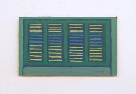 Santi Alleruzzo, 'Finestre Verdi', 1980-1981