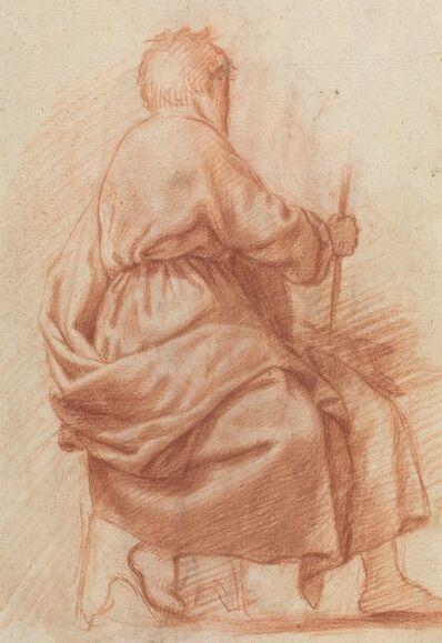 Jacopo Chimenti, 'Seated Draped Man [verso]'