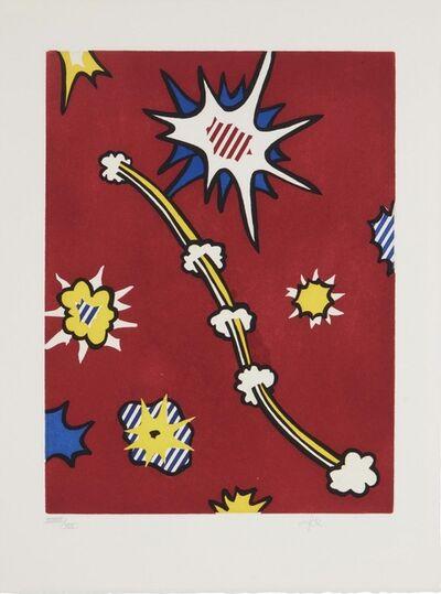 """Roy Lichtenstein, 'Illustration for """"De Denver au Montana, Depart 27 Mai 1972""""', 1992"""