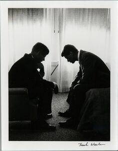 Hank Walker, 'John F. Kennedy and Robert F. Kennedy at Democratic Convention, Biltmore Hotel, Los Angeles', 1960