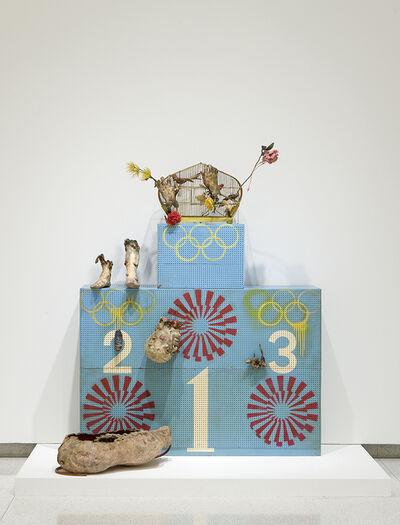 Tetsumi Kudo, 'Olympic Winners Platform (Pollution Olympics - Pollution Game - L'art pressentiment)', 1970-1972