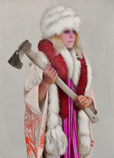 June Glasson, 'Bride with Axe I', 2020