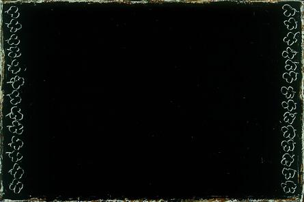 Joan Hernández Pijuan, 'Flors gravades sobre negre', 2001