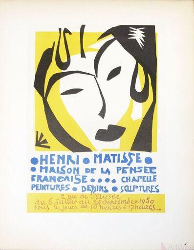 Henri Matisse, 'Maison de la Pensee Francaise', 1959