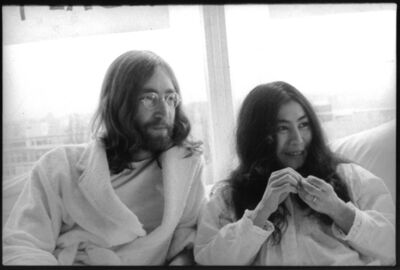 Luiz Garrido, 'John and Yoko in bed after the press conference for Bed in for Peace in Amsterdam's Hilton hotel, where the couple and the photographer were staying', 1969