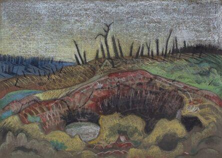 Paul Nash, 'A Farm, Wytschaete', 1917