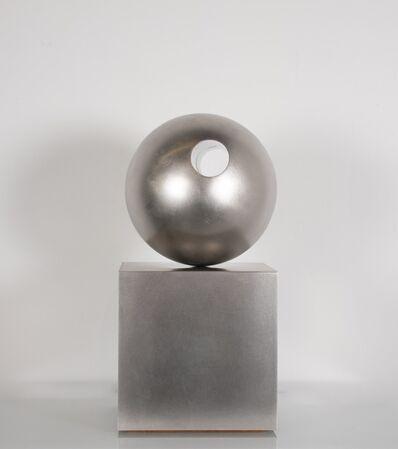 Pol Bury, 'Sphère trouée sur un cube (Sphere with hole on a cube)', 1975