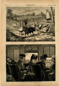 """Frederick Stuart Church, '""""I Want to Go Home"""" and Constructing Railroad Ties', 1872"""