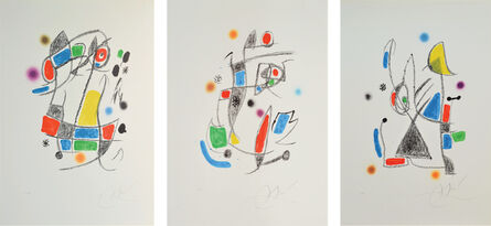 Joan Miró, 'Maravillas con variaciones acrósticas (3 works)', 1975