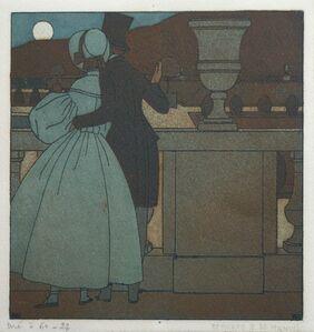 Bernard Boutet de Monvel, 'Couple looking at the Moon', 1908