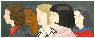 Alex Katz, 'Five Women (Maravell 94)', 1977