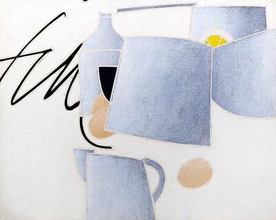 Emilio Tadini, 'Still life with the word Finish', 1979
