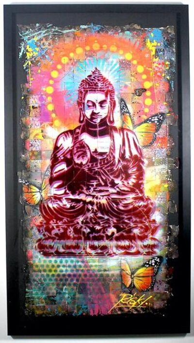 RISK, 'Peaceful Buddha Woven #3', 2021