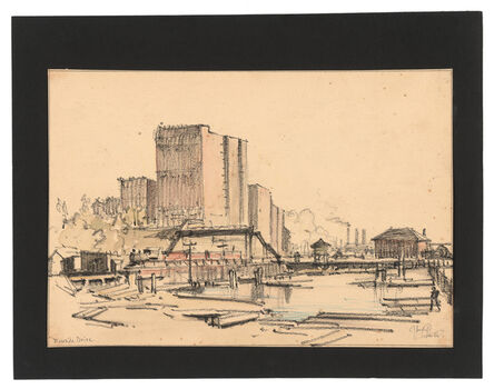 Jules Andre Smith, 'A View of the Riverside Docks and the New York Central Railroad', ca. 1915