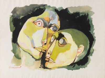 Oswaldo Guayasamín, 'Madre e hijo', 1983
