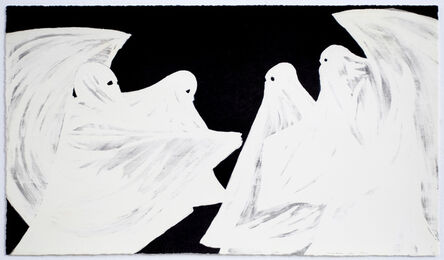 Marcel Dzama, 'Scared of his own ghost', 2008
