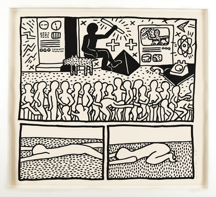 Keith Haring, 'Untitled (The Blueprint Drawings - No. 15)', 1990