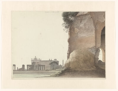 Josephus Augustus Knip, 'The Basilica of San Giovanni in Laterano, with the Temple of Minerva Medica in the Foreground', 1809-1812