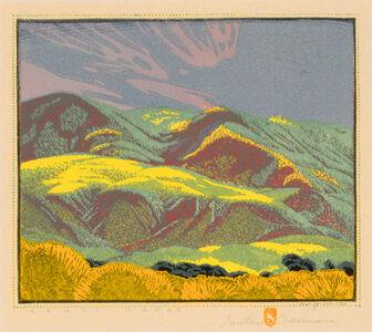 Gustave Baumann, 'Coast Range', 1928