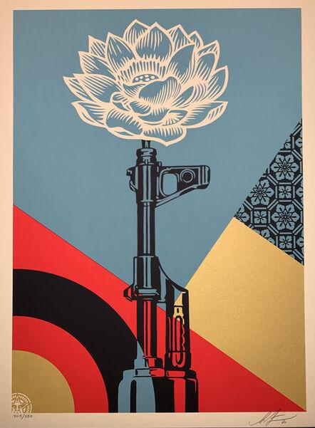 Shepard Fairey, 'OBEY AK-47 Lotus Shepard Fairey Print Signed and Numbered Street Art Vietnam War Peace ', 2020