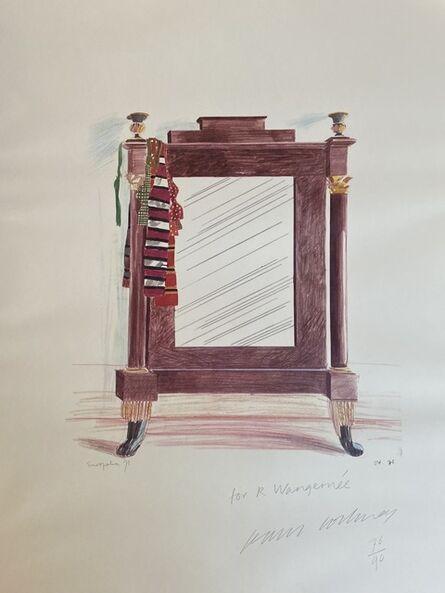 David Hockney, 'Hand Signed Mirror, Casa Santini, Lucca, 1973', 1973