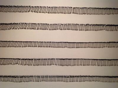 Manuel ROCHA ITURBIDE, 'Cinco líneas con clavos', 2014