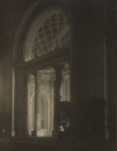 Francis Bruguière, 'Machinery Hall, West Entrance, at Night', 1915