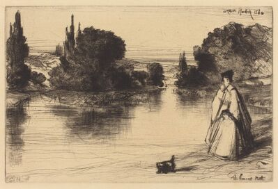 Francis Seymour Haden, 'The Towing Path', 1864