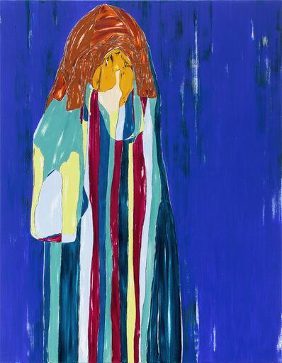 Nicola Tyson, 'Self-Portrait: Stripes', 2020