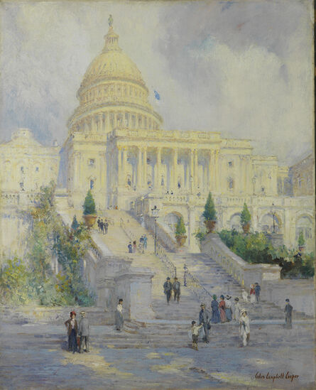 Colin Campbell Cooper, 'West Front of the Capitol Steps, Washington D.C.', 1902