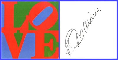 Robert Indiana, 'Classic Earth Love (Hand Signed)', 1999