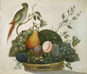 A.M. Randall, 'Basket of Fruit with Parrot', 1777