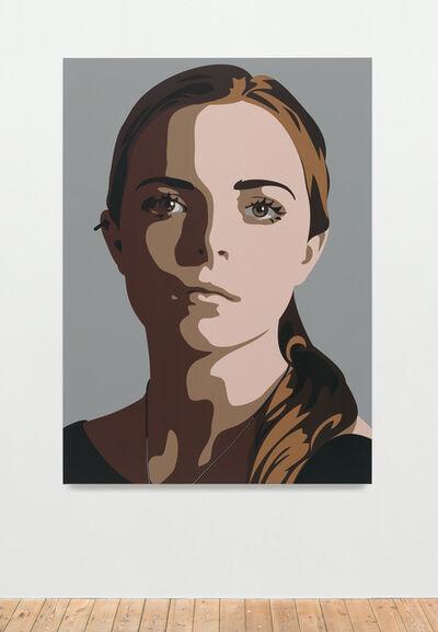 Julian Opie, 'Lily, eyes straight, head left 2', 2014