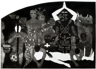 Belkis Ayón, 'Nlloro (Weeping)', 1991