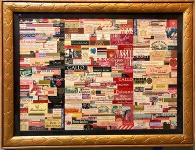William Dole, 'Wine labels 1970s Modernist Collage Assemblage', 20th Century