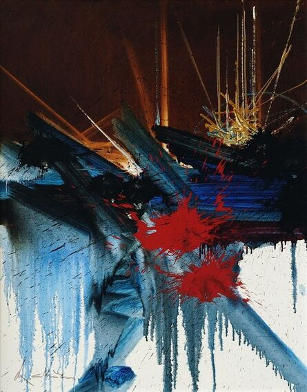 Georges Mathieu, 'L'amour acre', 1989