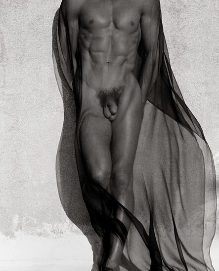 Herb Ritts, 'Male Torso with Veil', 1985