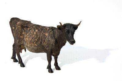 Joe Fafard, 'Ernestine AP I - small, bronze, cow, animal, sculpture', 2006