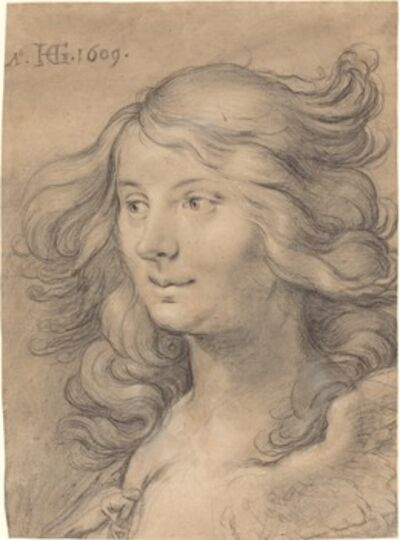 Hendrik Goltzius, 'Head of a Siren', 1609