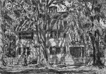 Childe Hassam, 'The Lion Gardiner House, Easthampton', 1920