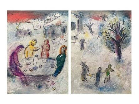 """Marc Chagall, '""""The Meal at Dryas's House (Le repas chez Dryas),"""" from Daphnis et Chloé (Cramer 46; Mourlot 334)', 1977"""
